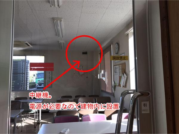 建物内に設置する中継機