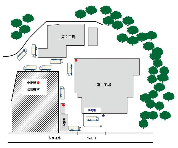 袖ヶ浦工場の見取り図。結構な広さがある